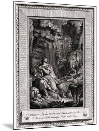 Orpheus, by His Voice and Lyre, Attracts the Attention of the Animals, Rocks and Trees, 1774-W Walker-Mounted Giclee Print