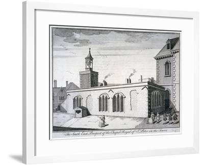 South-East View of the Chapel of St Peter Ad Vincula, Tower of London, C1737-William Henry Toms-Framed Giclee Print