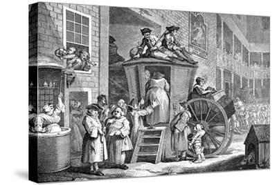The Stage Coach or Country Inn Yard, 1747-William Hogarth-Stretched Canvas Print
