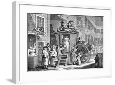The Stage Coach or Country Inn Yard, 1747-William Hogarth-Framed Giclee Print