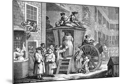 The Stage Coach or Country Inn Yard, 1747-William Hogarth-Mounted Giclee Print