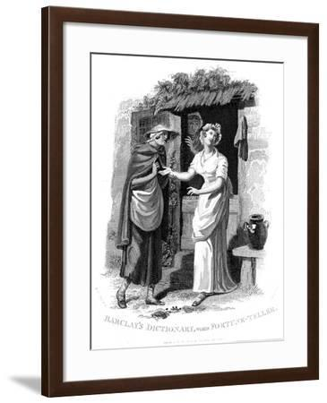 Chiromancy: Country Girl Having Her Hand Read by a Fortune Teller Who Sees Misfortunes Ahead-William Marshall Craig-Framed Giclee Print