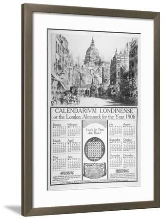 St Paul's Cathedral and Fleet Street, City of London, 1905-William Monk-Framed Giclee Print