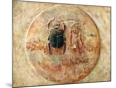 Scarab and Ra, Tomb of Seti, Egypt, 1910-Walter Tyndale-Mounted Giclee Print