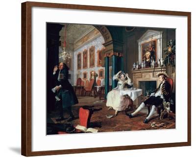 Marriage A-La-Mode: 2, the Tete a Tete, 1743-William Hogarth-Framed Giclee Print