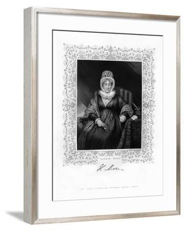 Hannah More, English Religious Writer and Philanthropist, 19th Century-William Finden-Framed Giclee Print
