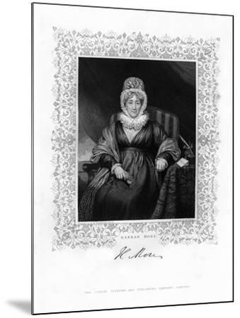 Hannah More, English Religious Writer and Philanthropist, 19th Century-William Finden-Mounted Giclee Print