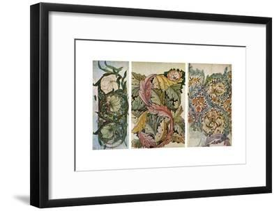 Working Drawings by William Morris (1834-189), 1934-William Morris-Framed Giclee Print