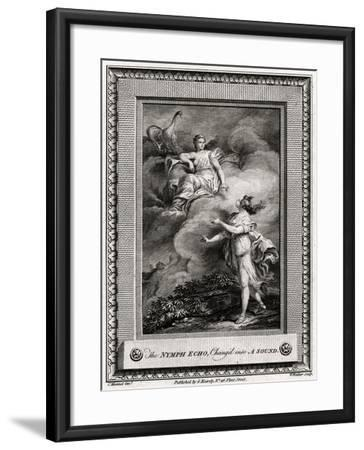 The Nymph Echo, Chang'D into a Sound, 1774-W Walker-Framed Giclee Print