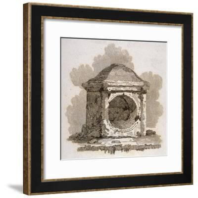 The London Stone, Cannon Street, City of London, 1806-William Bernard Cooke-Framed Giclee Print