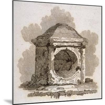 The London Stone, Cannon Street, City of London, 1806-William Bernard Cooke-Mounted Giclee Print