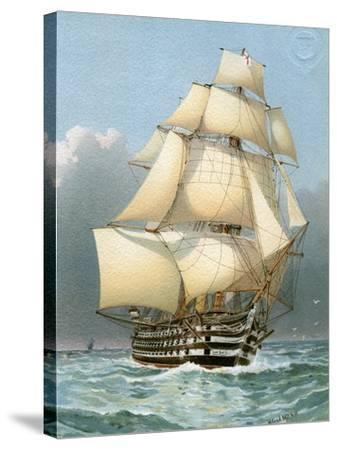 HMS Victoria, Royal Navy 121 Gun Warship, C1859 (C1890-C189)-William Frederick Mitchell-Stretched Canvas Print