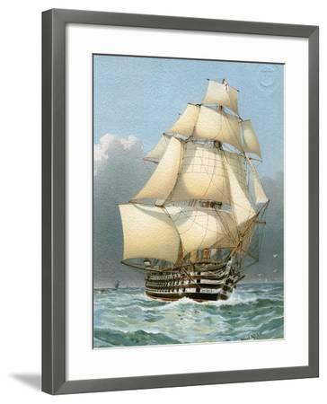 HMS Victoria, Royal Navy 121 Gun Warship, C1859 (C1890-C189)-William Frederick Mitchell-Framed Giclee Print