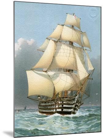 HMS Victoria, Royal Navy 121 Gun Warship, C1859 (C1890-C189)-William Frederick Mitchell-Mounted Giclee Print