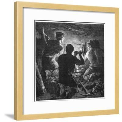 Coal Mining Accident, Tynewydd Colliery, South Wales, April 1877-William Heysham Overend-Framed Giclee Print