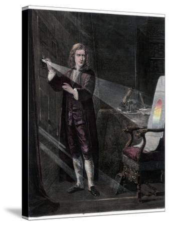 Newton Investigating Light, 1870-William Mouat Loudan-Stretched Canvas Print