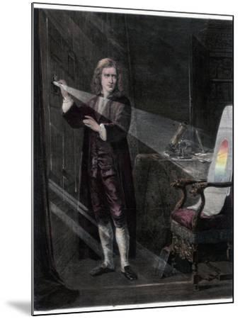 Newton Investigating Light, 1870-William Mouat Loudan-Mounted Giclee Print