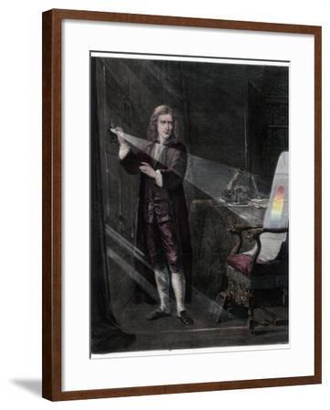 Newton Investigating Light, 1870-William Mouat Loudan-Framed Giclee Print