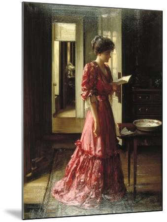 The Letter, 1910-William Mouat Loudan-Mounted Giclee Print
