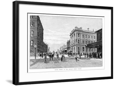 Queen Street, at the Edward Street Corner, Brisbane, 1860-WC Fitler-Framed Giclee Print