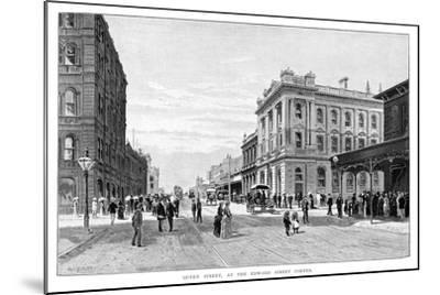 Queen Street, at the Edward Street Corner, Brisbane, 1860-WC Fitler-Mounted Giclee Print