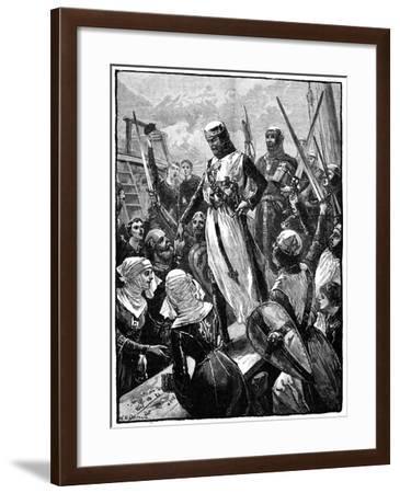 Richard I, Coeur De Lion Landing at Sandwich, March 1194-William Heysham Overend-Framed Giclee Print