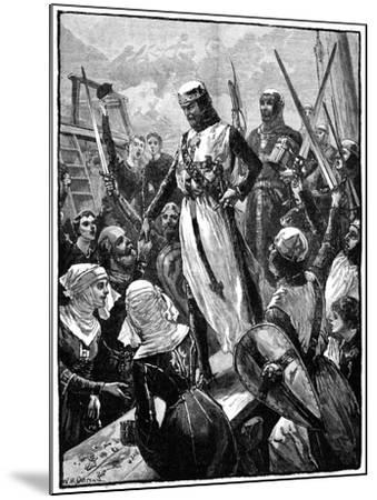Richard I, Coeur De Lion Landing at Sandwich, March 1194-William Heysham Overend-Mounted Giclee Print