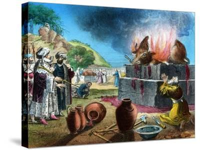 Burnt Offering, 20th Century-WC Hughes-Stretched Canvas Print