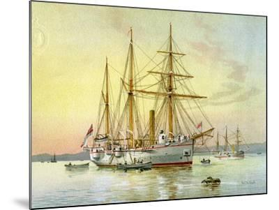 HMS Bramble, Royal Navy 1st Class Gunboat, C1890-C1893-William Frederick Mitchell-Mounted Giclee Print