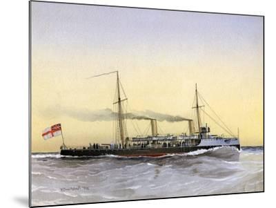 HMS Speedwell, Royal Navy Torpedo Gunboat, 1892-William Frederick Mitchell-Mounted Giclee Print