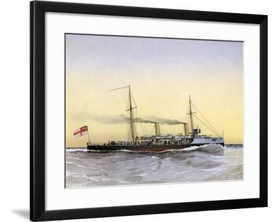 HMS Speedwell, Royal Navy Torpedo Gunboat, 1892-William Frederick Mitchell-Framed Giclee Print