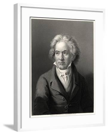 Beethoven, 19th Century-William Holl II-Framed Giclee Print