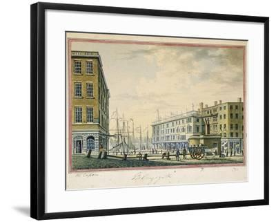 Billingsgate Market, London, 1799-William Capon-Framed Giclee Print