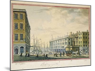 Billingsgate Market, London, 1799-William Capon-Mounted Giclee Print