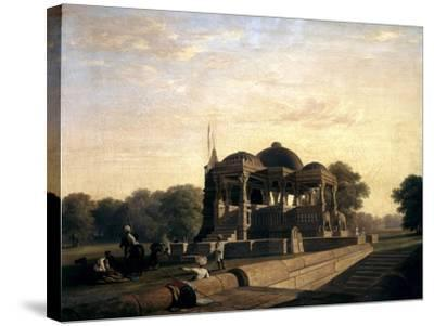 Ancient Temple at Hulwud, 1826-William Frederick Witherington-Stretched Canvas Print