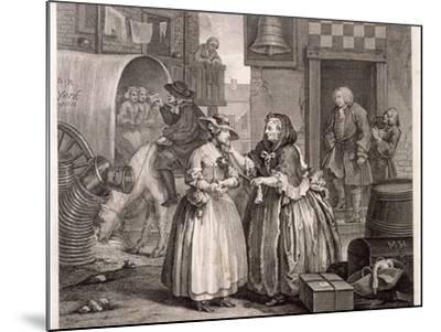 Innocence Betrayed, or the Journey to London, Plate I of the Harlot's Progress, 1732-William Hogarth-Mounted Giclee Print