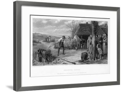 Experimental Gunnery, 19th Century-William Greatbach-Framed Giclee Print