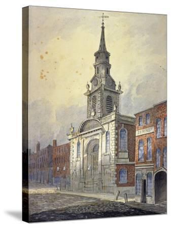 St George's Church, Borough High Street, Southwark, London, C1815-William Pearson-Stretched Canvas Print