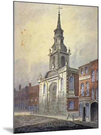 St George's Church, Borough High Street, Southwark, London, C1815-William Pearson-Mounted Giclee Print