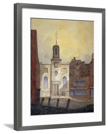 View of Holy Trinity Church, Minories, City of London, 1810-William Pearson-Framed Giclee Print