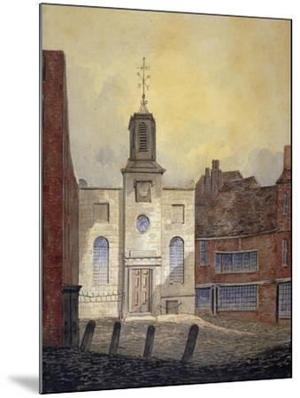 View of Holy Trinity Church, Minories, City of London, 1810-William Pearson-Mounted Giclee Print