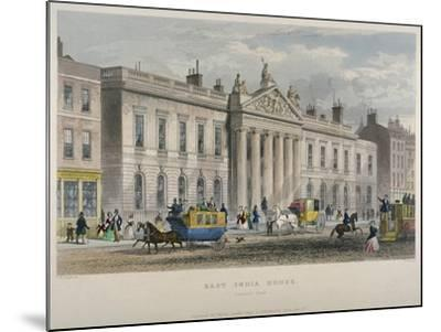 North View of East India House, Leadenhall Street, City of London, 1850-William Wallace-Mounted Giclee Print