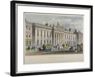 North View of East India House, Leadenhall Street, City of London, 1850-William Wallace-Framed Giclee Print