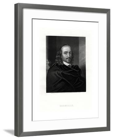 Pierre Corneille, French Tragedian and Dramatist, 19th Century- Woolnoth-Framed Giclee Print