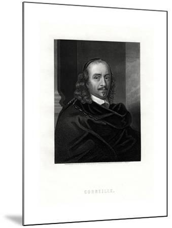 Pierre Corneille, French Tragedian and Dramatist, 19th Century- Woolnoth-Mounted Giclee Print