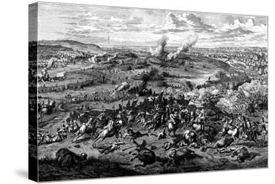 War of the Spanish Succession: Battle of Blenheim, Bavaria, 3 August 1704--Stretched Canvas Print