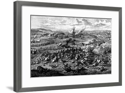 War of the Spanish Succession: Battle of Blenheim, Bavaria, 3 August 1704--Framed Giclee Print