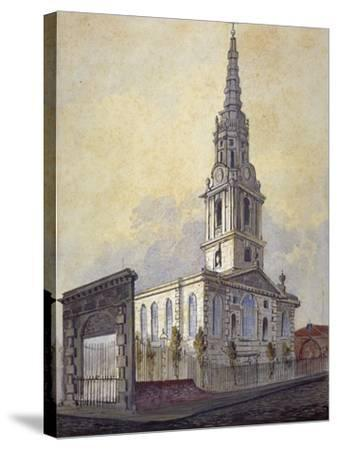 Church of St Giles in the Fields, Holborn, London, C1815-William Pearson-Stretched Canvas Print
