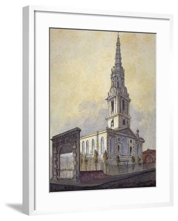 Church of St Giles in the Fields, Holborn, London, C1815-William Pearson-Framed Giclee Print