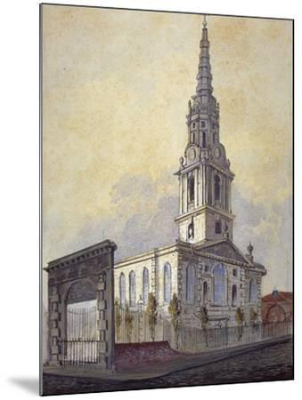 Church of St Giles in the Fields, Holborn, London, C1815-William Pearson-Mounted Giclee Print